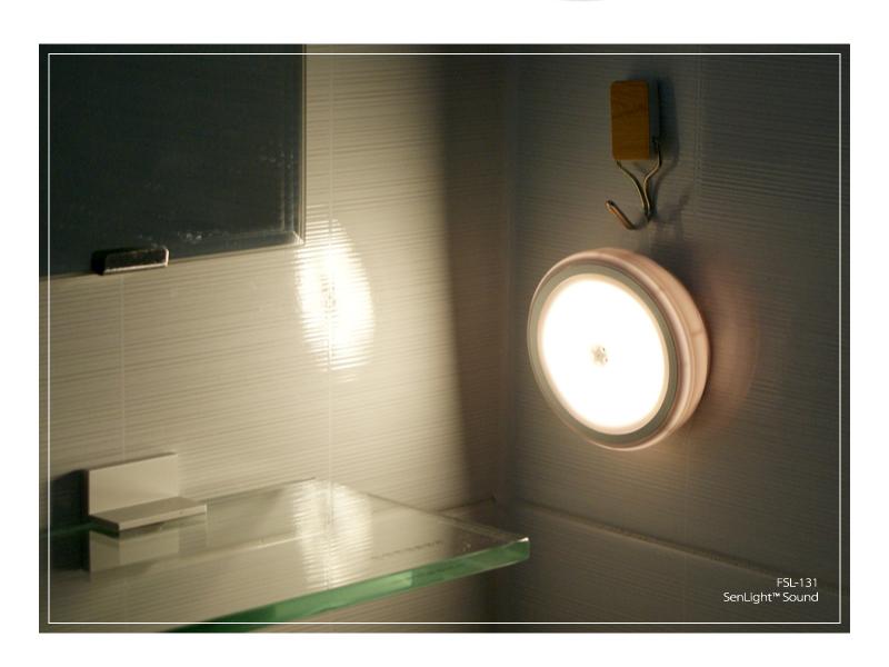플램 센라이트 Sound 소리감지 LED 무선 센서등(FSL131) - 플램, 15,000원, 포인트조명, 센서조명